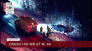 Icy conditions cause multiple crashes during Wednesday commute