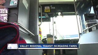 Valley Regional Transit increasing fares, riders question timeliness