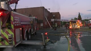 Cleveland firefighters battle blaze at St. Rocco Parish School