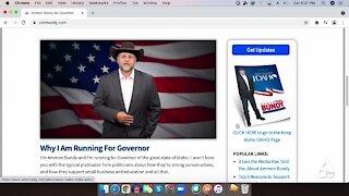 Ammon Bundy officially announces run for Idaho Governor