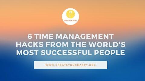 6 Time management hacks