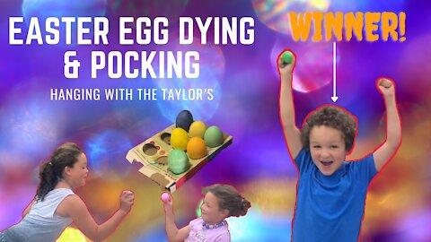 Easter egg dying & Pocking   Kids fun Vlog