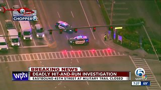Deadly hit-and-run crash investigated on 45th Street West Palm Beach