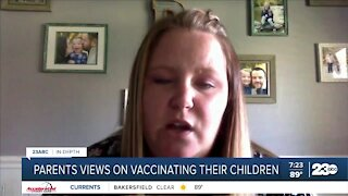 Parents thoughts on vaccinating their children