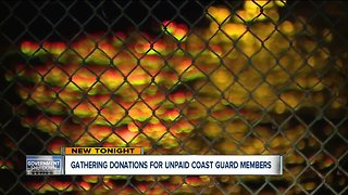 Gathering donations for unpaid coast guard members