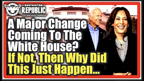 Is a Major Change Coming To The White House? If Not, Then Why Did This Just Get Leaked Out…
