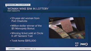 Port Charlotte woman wins lottery