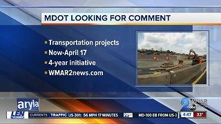 MDOT asking for public comment on Statewide Transportation Improvement Program