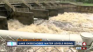 Lake Okeechobee levels rising