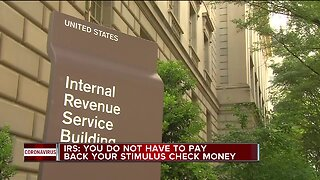 IRS: You do not have to pay back your stimulus check money