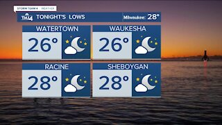 Mostly clear and frosty Tuesday night