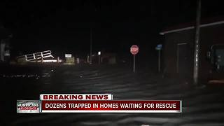 Dozens trapped in homes during Hurricane Florence