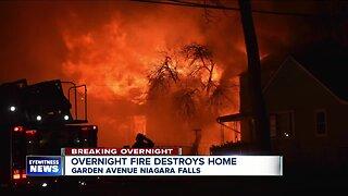 Massive overnight fire destroys Niagara Falls home