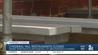 Restaurants in Federal Hill temporarily close after employees test positive for COVID-19