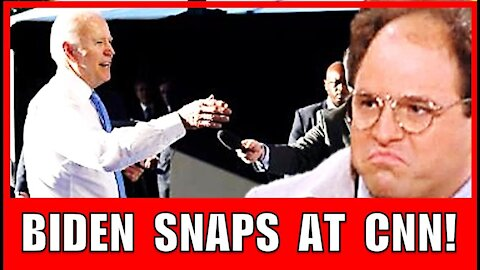 """BIDEN SNAPS at CNN REPORTER Collins: """"What the Hell? What do you do all day?"""" (George Getting Upset)"""