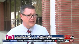Homeowner shoots suspect during a possible burglary in progress