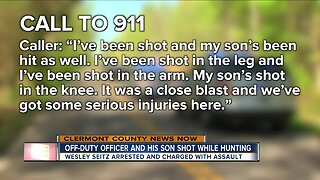 Off-duty officer and son shot while hunting