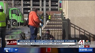 Jackson County downtown courthouse to remain closed Monday after another water line break