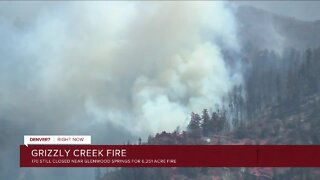Grizzly Creek Fire grows to 6,251 acres, with red flag warning in effect again Thursday