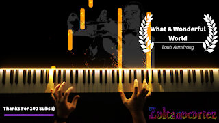 What A Wonderful World - Louis Armstrong (piano cover)