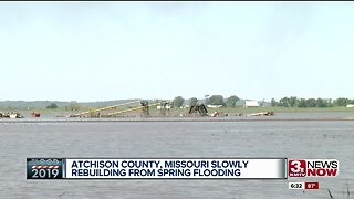 Atchison County, MO slowly rebuilding from spring flooding
