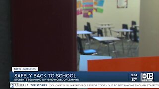 Students begin hybrid learning model at some Valley schools
