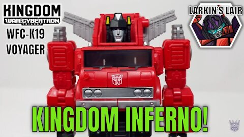 Transformers Kingdom Voyager Inferno Review WFC-K19 (Retail Release), Larkin's Lair