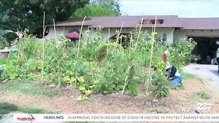 Neighbors come together to help community garden