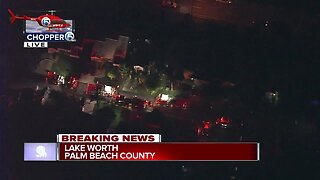 Crews respond to house fire in central Palm Beach County