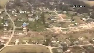Damage from deadly tornado in Tennessee