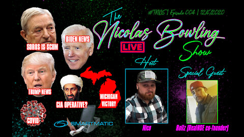The Nicolas Bowling Show 004   Soros, Michigan Victory , Election & MORE