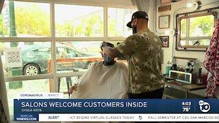 Salon welcome customers inside