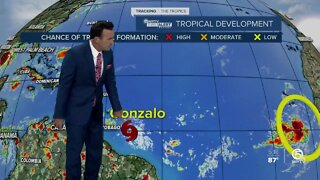 Tropics are active with Tropical Storm Gonzalo and Tropical Storm Hanna
