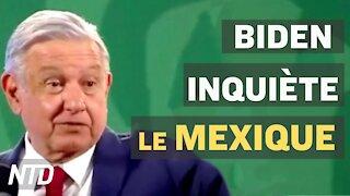 Président mexicain: la politique d'asile de Biden aide les cartels; un dialogue USA-Chine difficile?