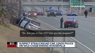 Shooting leads to police chase of stolen cruiser in Sterling Heights