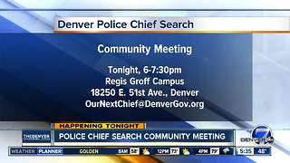 Denver Police chief search community meeting