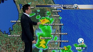 Mostly cloudy with afternoon showers