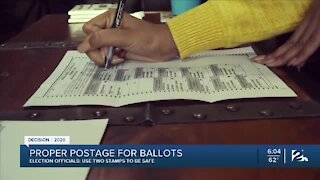 Proper postage for ballots