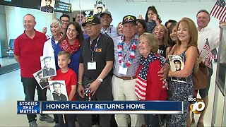 Honor flight returns home