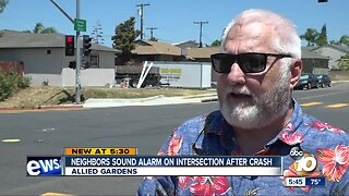Neighbors sound alarm on intersection after crash