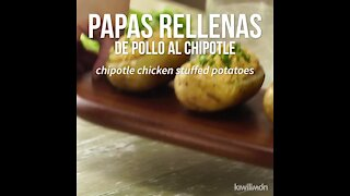 Potatoes Stuffed with Chipotle Chicken