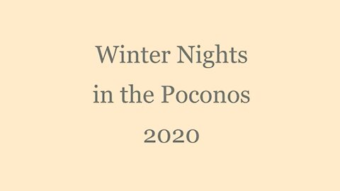 AFA Winter Nights in the Poconos 2020