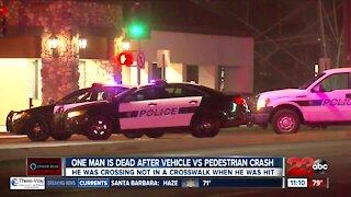 One man is dead after vehicle vs. pedestrian crash