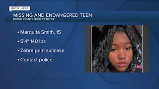 Brown County searches for missing endangered teen girl