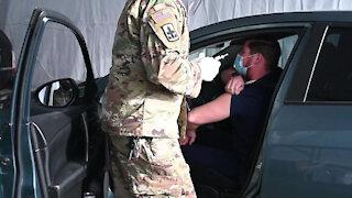 Arizona National Guard supports COVID-19 vaccination site