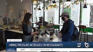 Hiring pressure increases on San Diego restaurants ahead of CA reopening