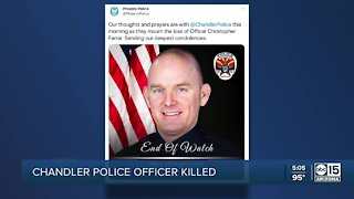 Community responds after a Chandler officer was killed while responding to a pursuit call