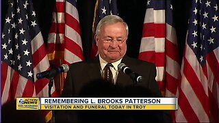 Funeral service today for L. Brooks Patterson