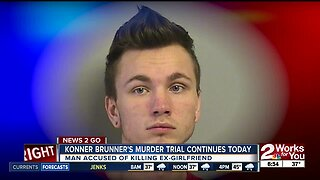 Konner Brunner's murder trial continues today