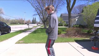 11-year-old attempts to break pogo stick jumping record
